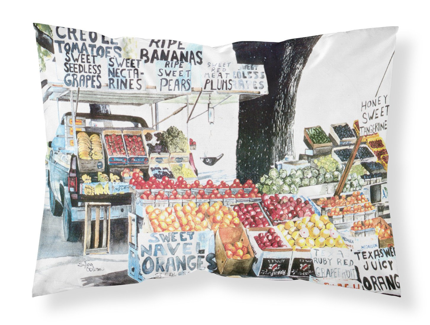 Fruit Stand Moisture wicking Fabric standard pillowcase by Caroline's Treasures