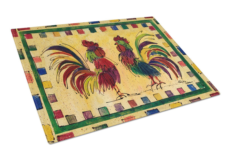 Rooster  Glass Cutting Board Large by Caroline's Treasures