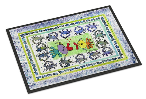 Buy this Fish Kissing Fish Indoor or Outdoor Mat 24x36 8073 Doormat