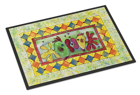 Buy this Fish Kissing Fish Indoor or Outdoor Mat 24x36 8074 Doormat