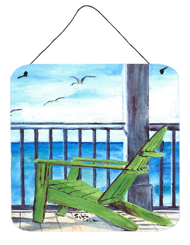 Buy this Adirondack Chairs Aluminium Metal Wall or Door Hanging Prints 8085