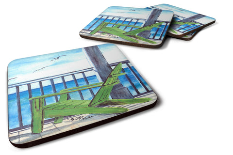 Buy this Set of 4 Adirondack Chairs Foam Coasters