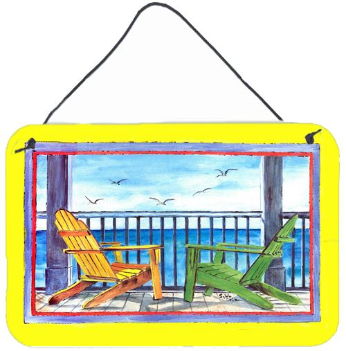 Buy this Adirondack Chairs Yellow Aluminium Metal Wall or Door Hanging Prints