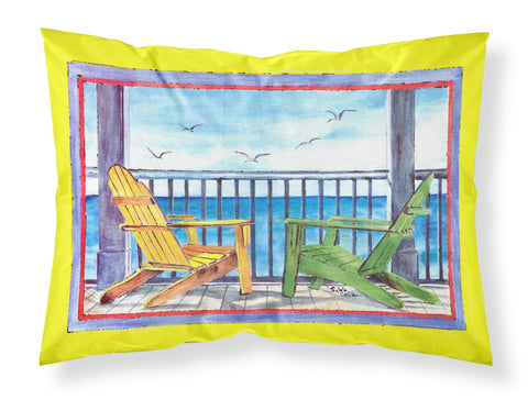 Buy this Adirondack Chairs Yellow Moisture wicking Fabric standard pillowcase