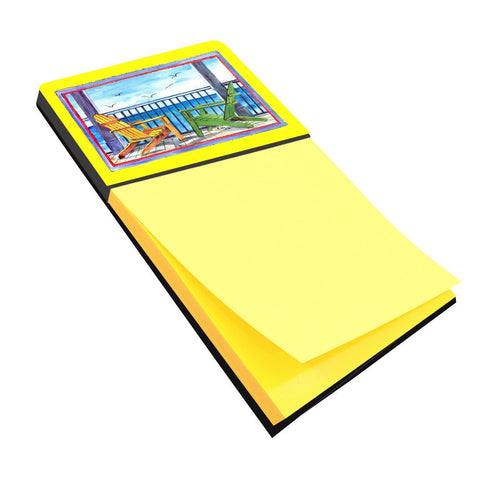 Buy this Adirondack Chairs Yellow Refiillable Sticky Note Holder or Postit Note Dispenser 8085SN