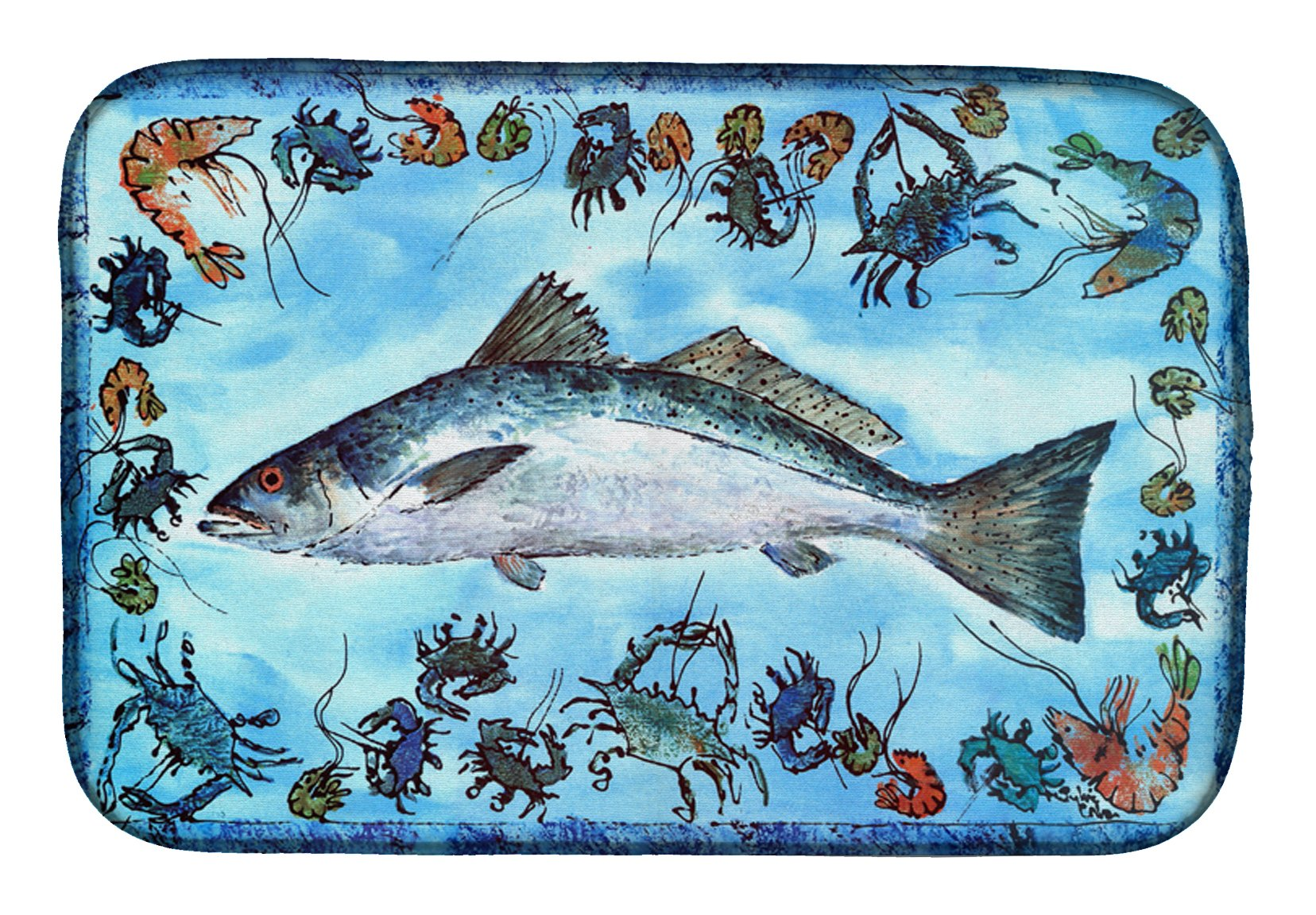 Buy this Fish Speckled Trout Dish Drying Mat 8086DDM