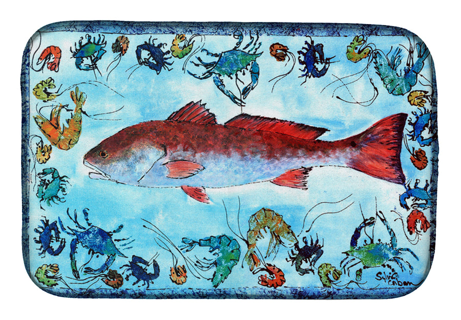 Buy this Red Fish Dish Drying Mat 8087DDM