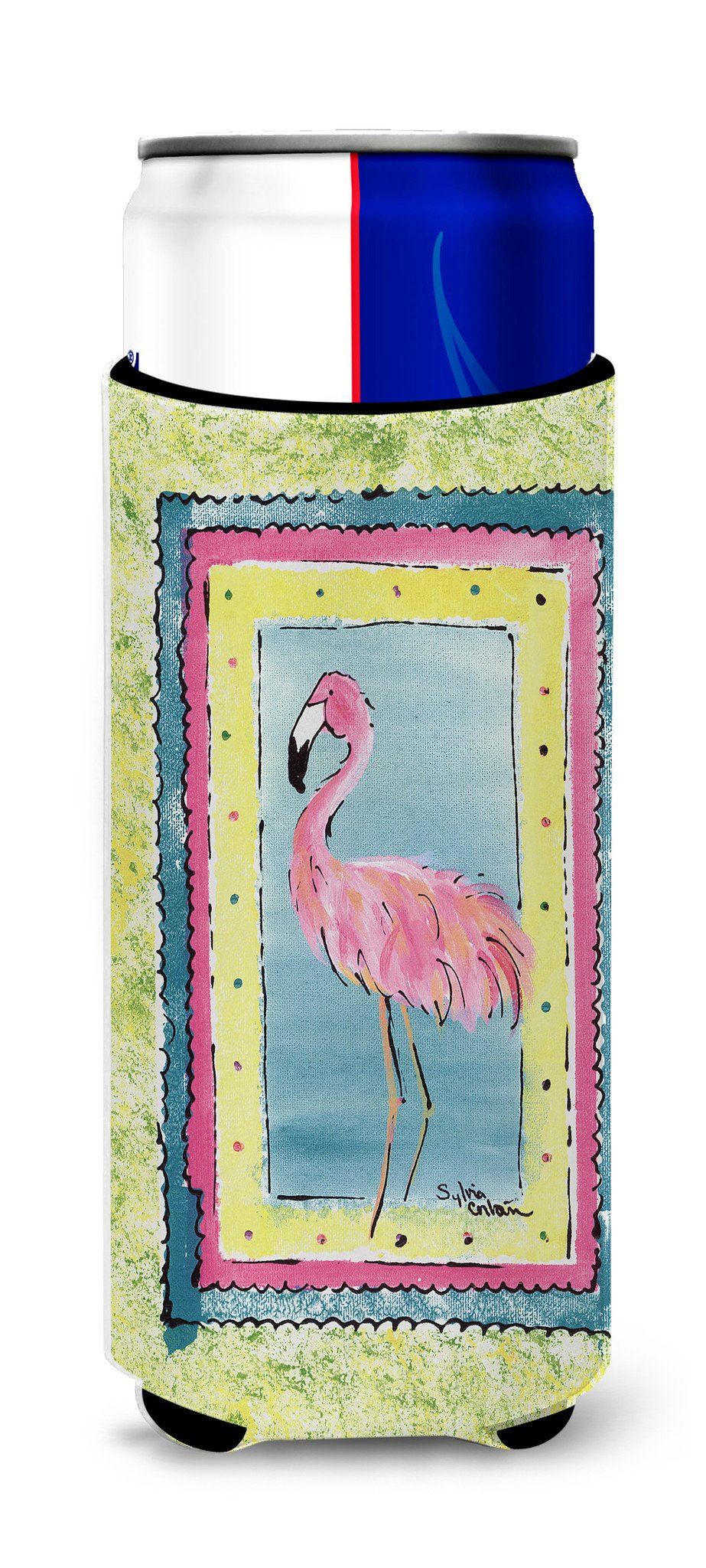Bird - Flamingo Ultra Beverage Insulators for slim cans 8107MUK by Caroline's Treasures