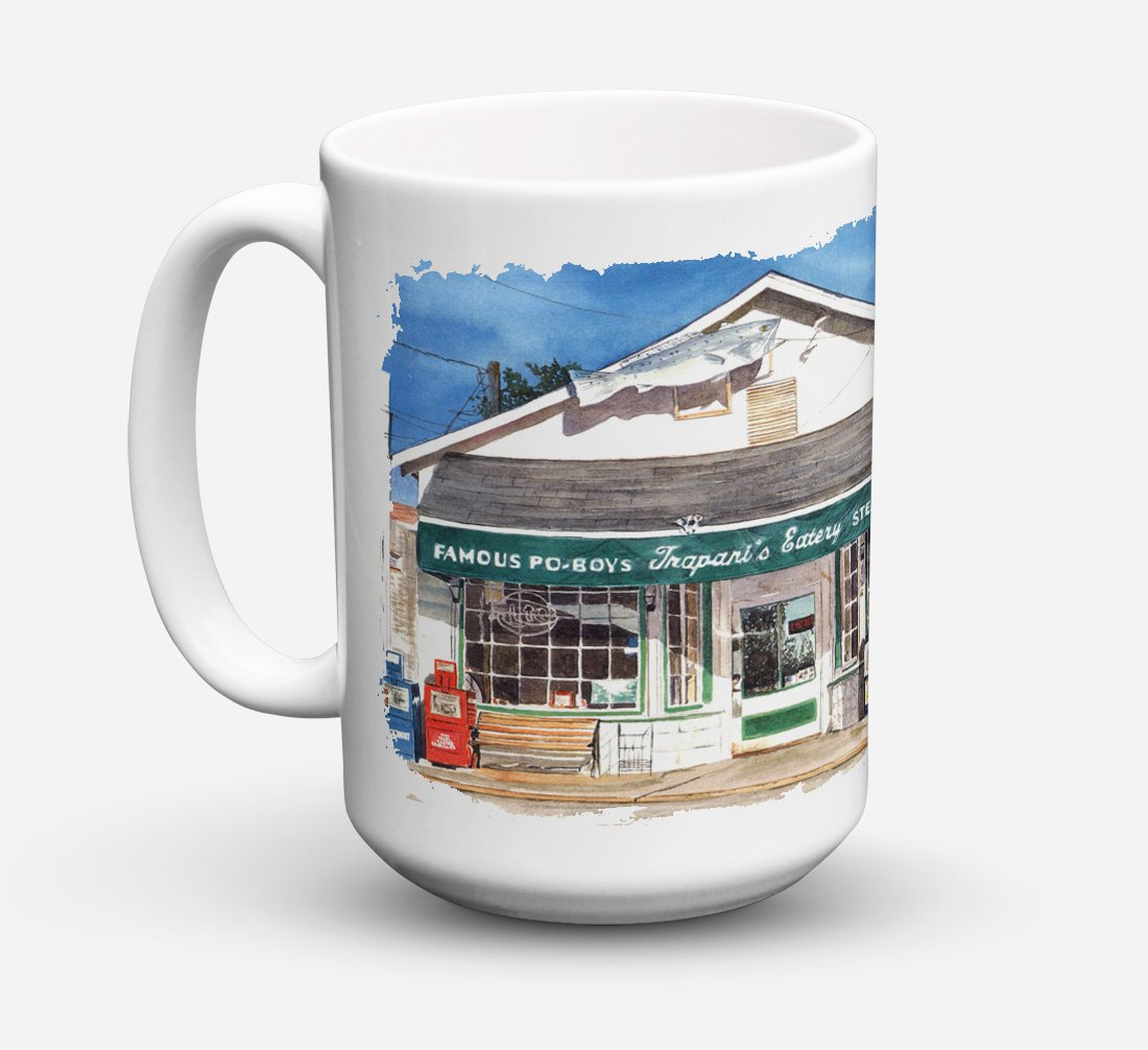 Trapani's Eatery Dishwasher Safe Microwavable Ceramic Coffee Mug 15 ounce 8109CM15 by Caroline's Treasures