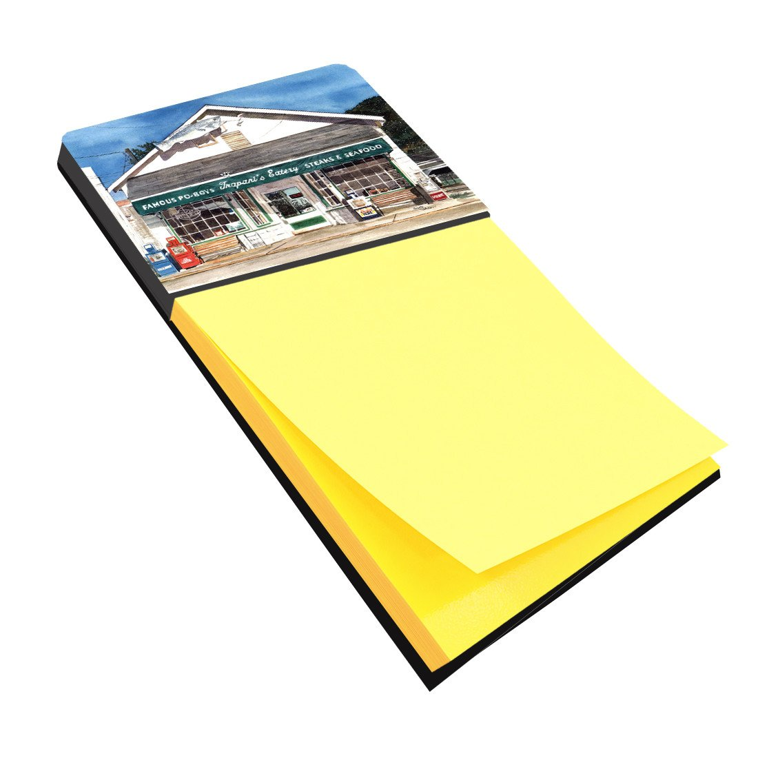 Trapani's Eatery Refiillable Sticky Note Holder or Postit Note Dispenser 8109SN by Caroline's Treasures