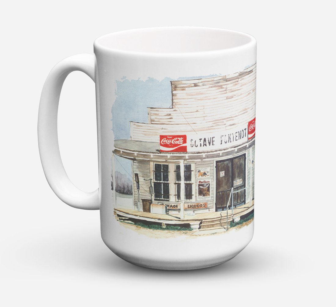 Octave Fontenot Dishwasher Safe Microwavable Ceramic Coffee Mug 15 ounce 8111CM15 by Caroline's Treasures