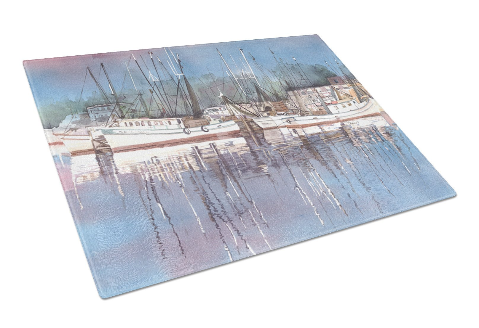 Harbour Glass Cutting Board Large by Caroline's Treasures