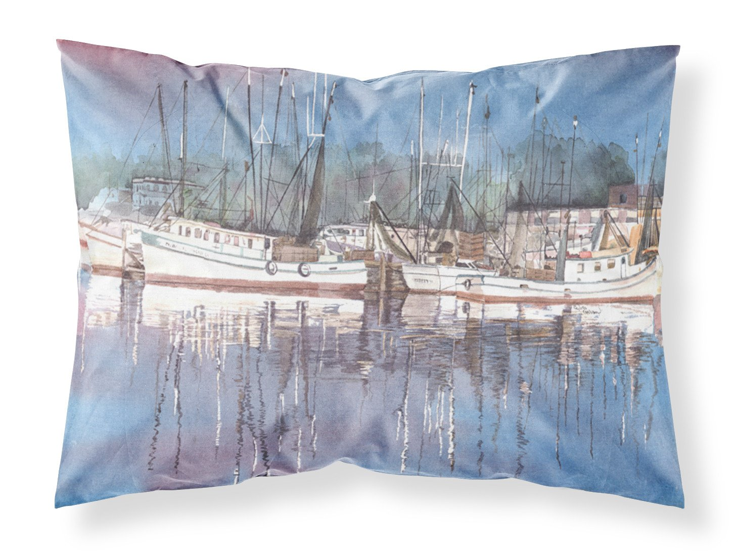 Harbour Moisture wicking Fabric standard pillowcase by Caroline's Treasures