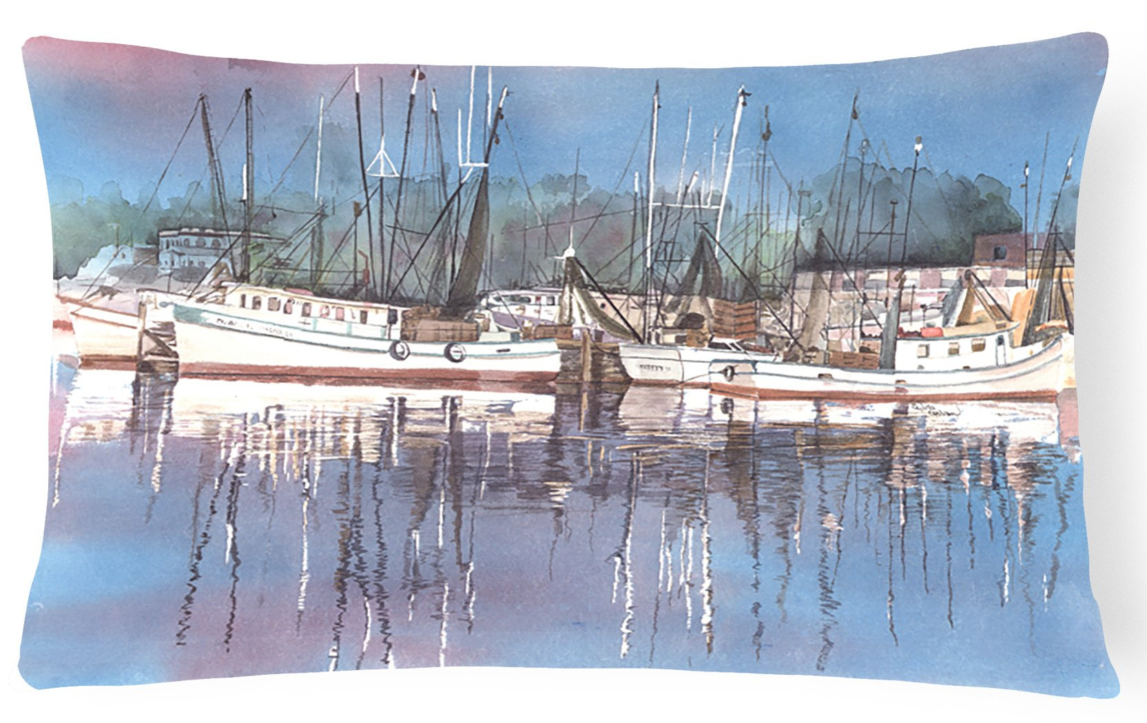 Harbour Decorative   Canvas Fabric Pillow by Caroline's Treasures