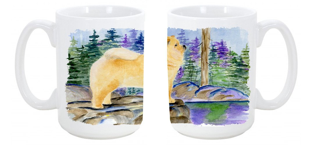 Buy this Chow Chow Dishwasher Safe Microwavable Ceramic Coffee Mug 15 ounce SS8003CM15