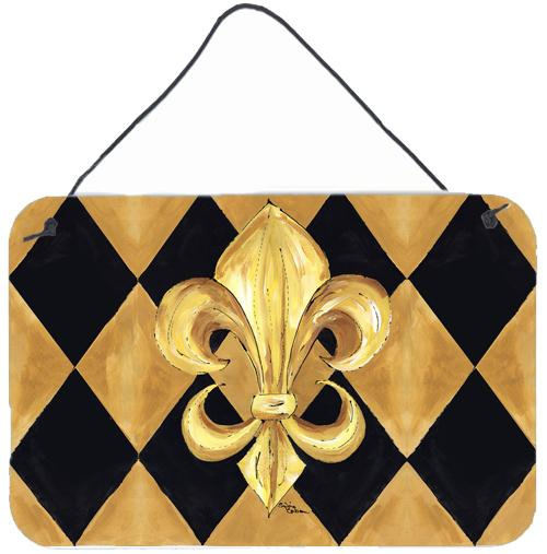 Buy this Black and Gold Fleur de lis New Orleans Indoor or Wall or Door Hanging Prints