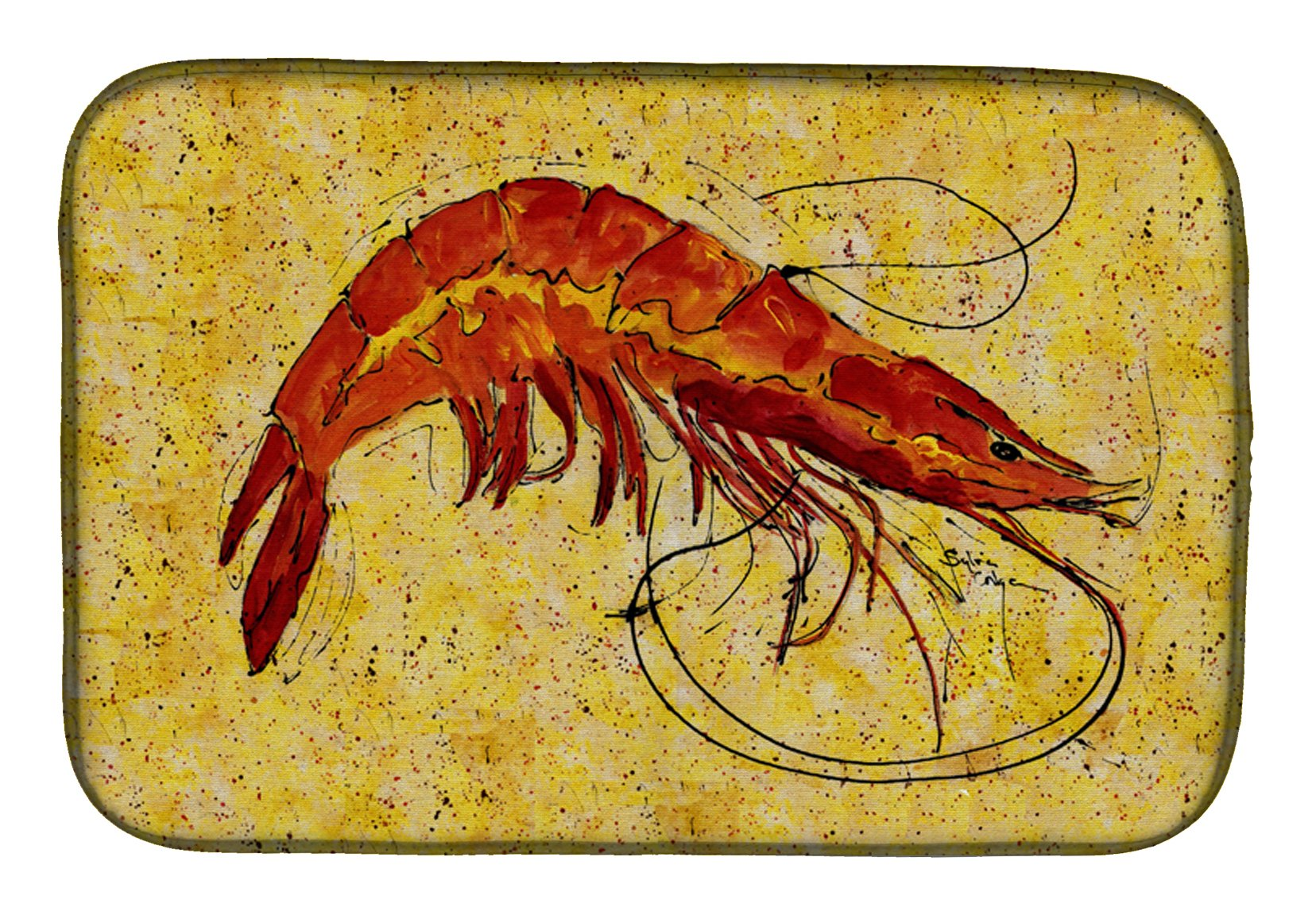 Shrimp Dish Drying Mat 8126DDM by Caroline's Treasures