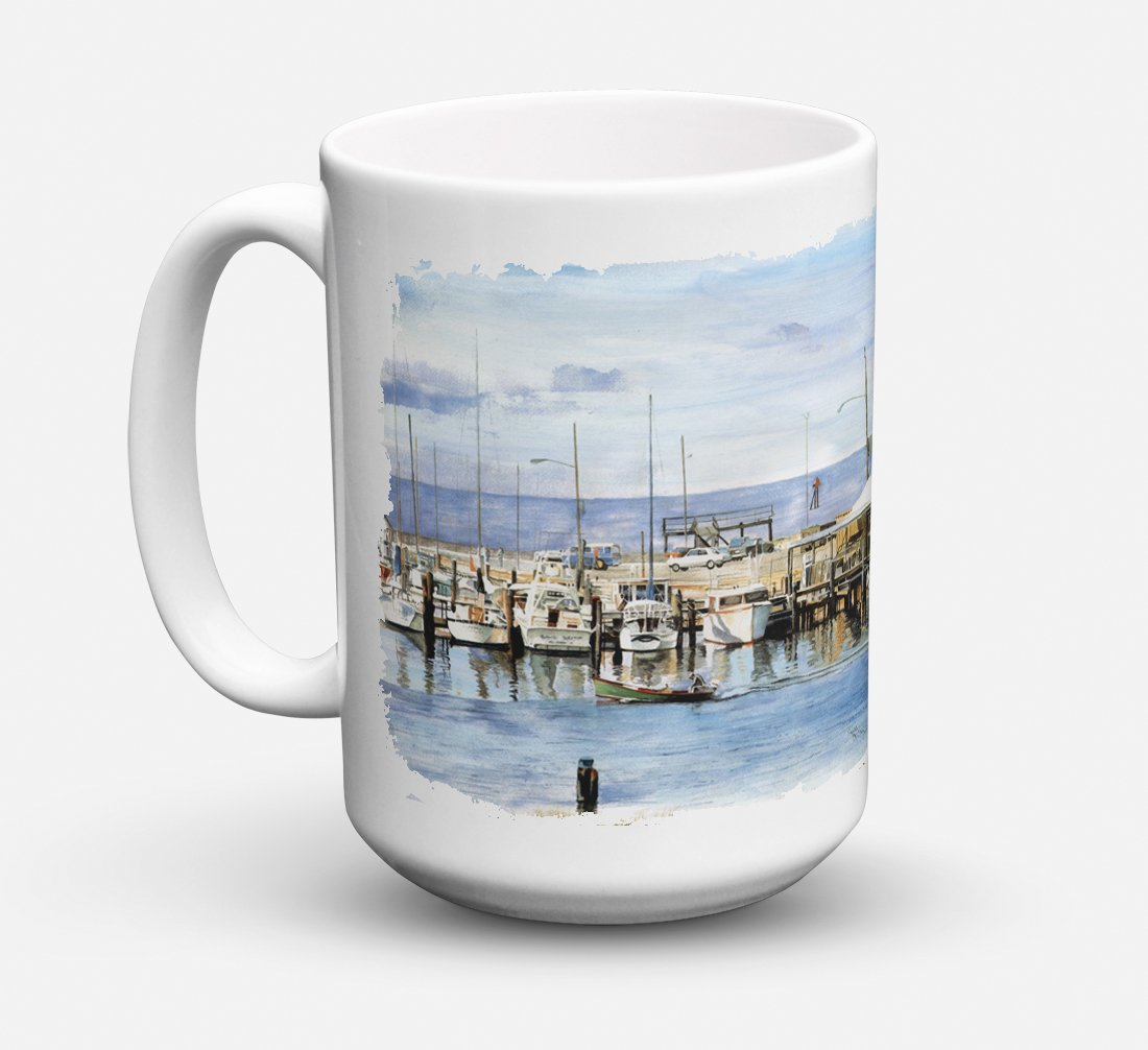 The Pass Bait Shop Dishwasher Safe Microwavable Ceramic Coffee Mug 15 ounce 8129CM15 by Caroline's Treasures