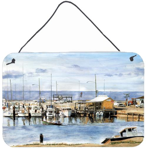 The Pass Bait Shop Indoor Aluminium Metal Wall or Door Hanging Prints by Caroline's Treasures