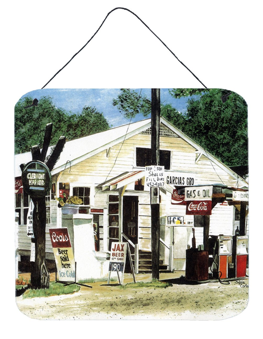 Garcia's Grocery Aluminium Metal Wall or Door Hanging Prints by Caroline's Treasures