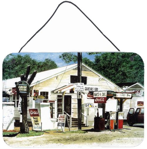 Garcia's Grocery Indoor Aluminium Metal Wall or Door Hanging Prints by Caroline's Treasures