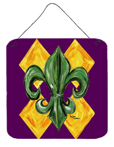 Buy this Mardi Gras Harlequin Fleur de lis Aluminium Metal Wall or Door Hanging Prints