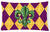 Mardi Gras Fleur de lis Purple Green and Gold   Canvas Fabric Decorative Pillow by Caroline's Treasures