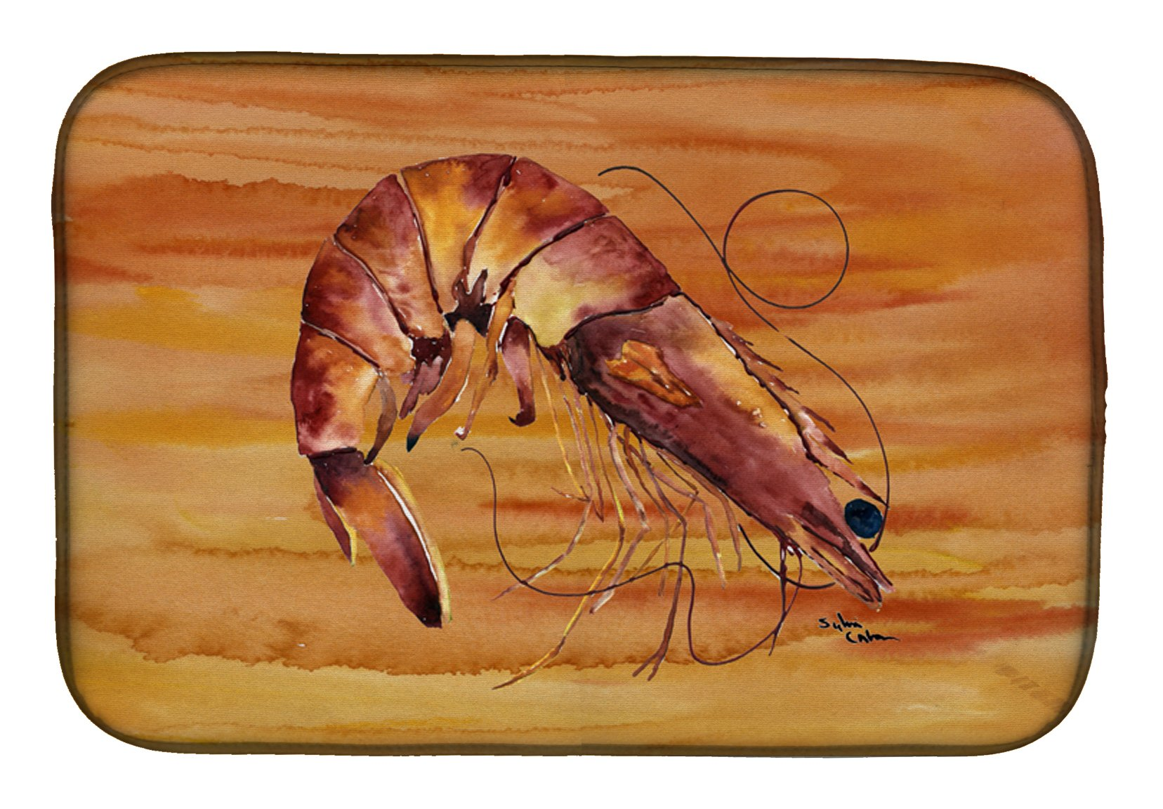Shrimp Dish Drying Mat 8140DDM by Caroline's Treasures