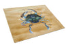 Crab  Glass Cutting Board Large by Caroline's Treasures