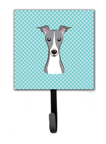 Buy this Checkerboard Blue Italian Greyhound Leash or Key Holder BB1174SH4
