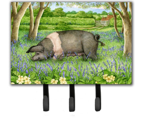 Buy this Pig In Bluebells by Debbie Cook Leash or Key Holder CDCO0377TH68