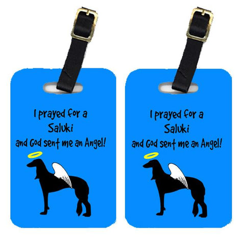 Buy this Pair of 2 Saluki Luggage Tags