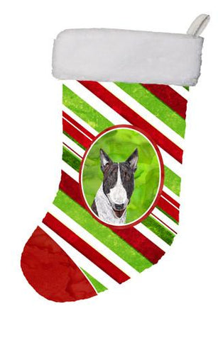 Buy this Bull Terrier Candy Cane Christmas Christmas Stocking SC9617-CS