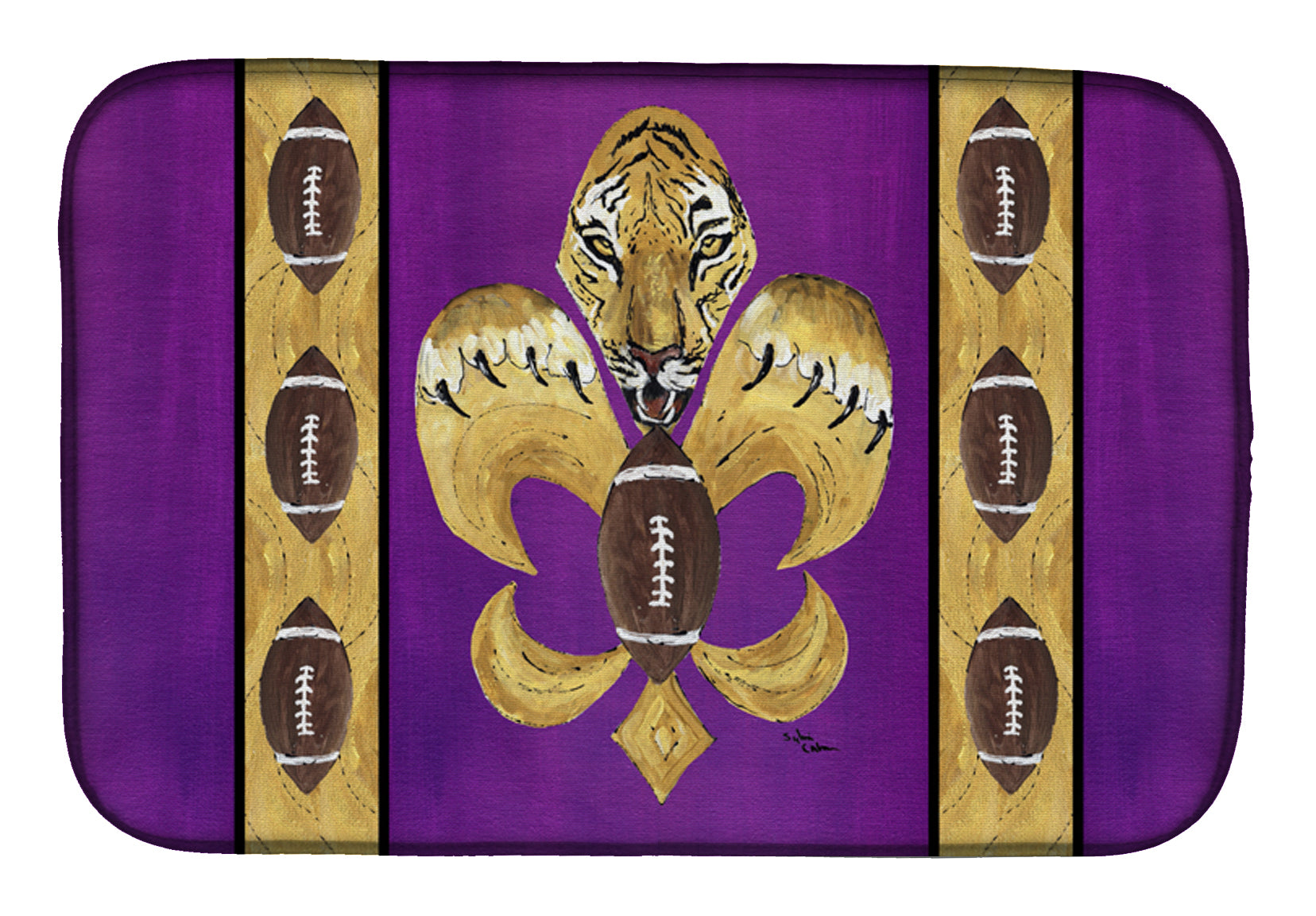 Buy this Tiger Football Fleur de lis Dish Drying Mat 8205DDM
