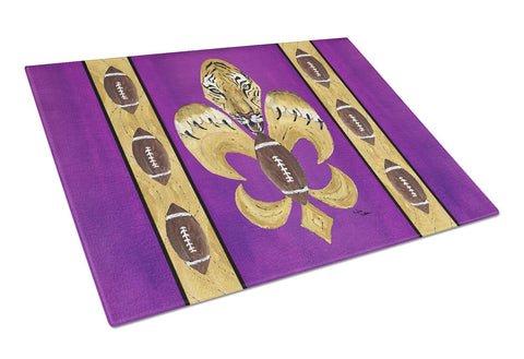 Buy this Tiger Football Fleur de lis  Glass Cutting Board Large