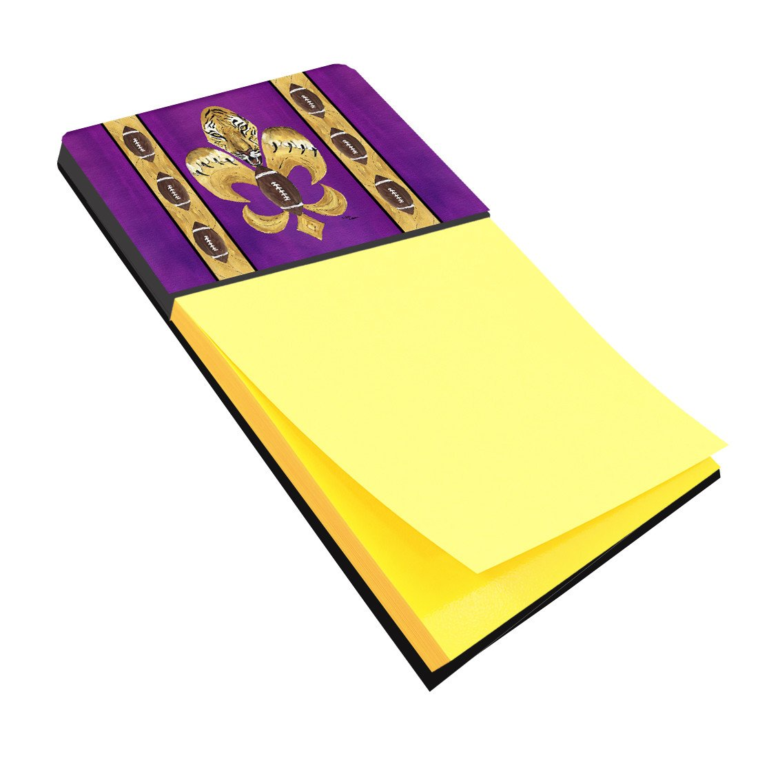 Buy this Tiger Football Fleur de lis Refiillable Sticky Note Holder or Postit Note Dispenser 8205SN