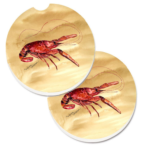 Buy this Crawfish Set of 2 Cup Holder Car Coasters 8230CARC