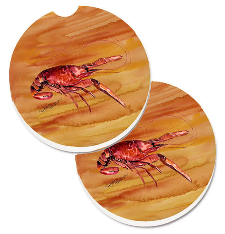 Buy this Crawfish Set of 2 Cup Holder Car Coasters 8232CARC