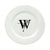 Letter W Initial Monogram Modern Ceramic White Dinner Plate CJ1056-W-DPW-11 by Caroline's Treasures