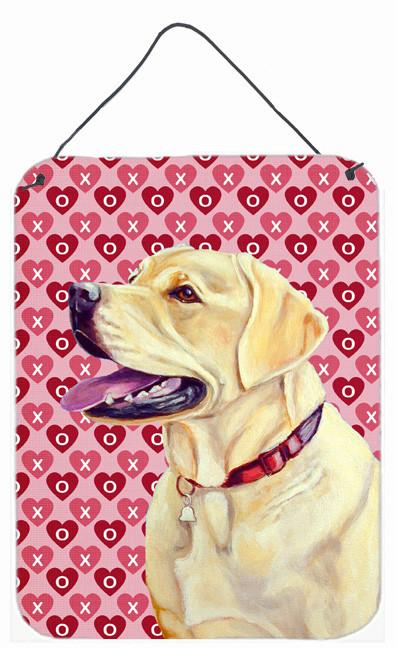 Labrador Hearts Love and Valentine's Day Portrait Wall or Door Hanging Prints by Caroline's Treasures