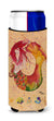 Red Headed Ginger Mermaid on Coral Ultra Beverage Insulators for slim cans 8339MUK by Caroline's Treasures