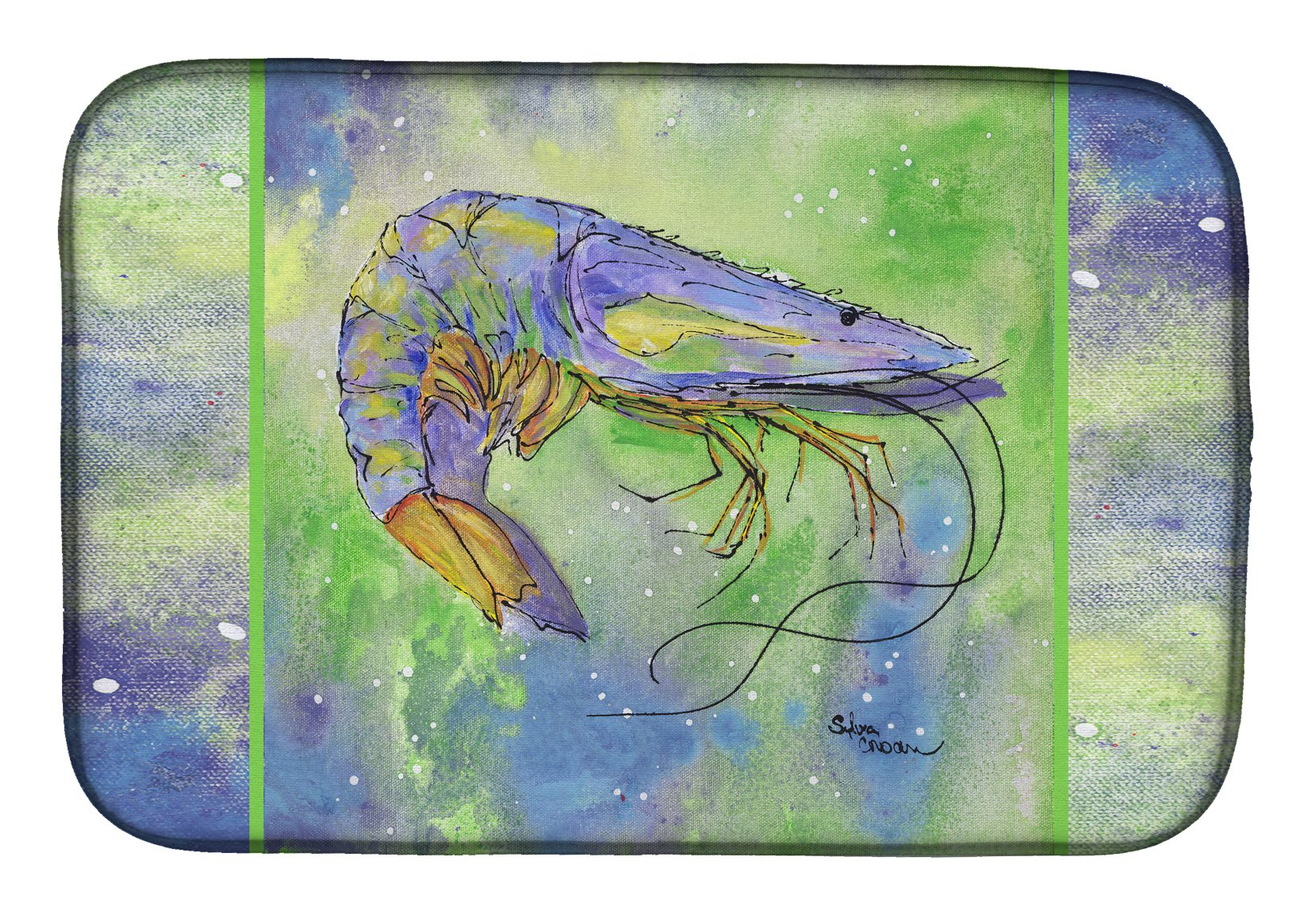Shrimp Dish Drying Mat 8342DDM by Caroline's Treasures