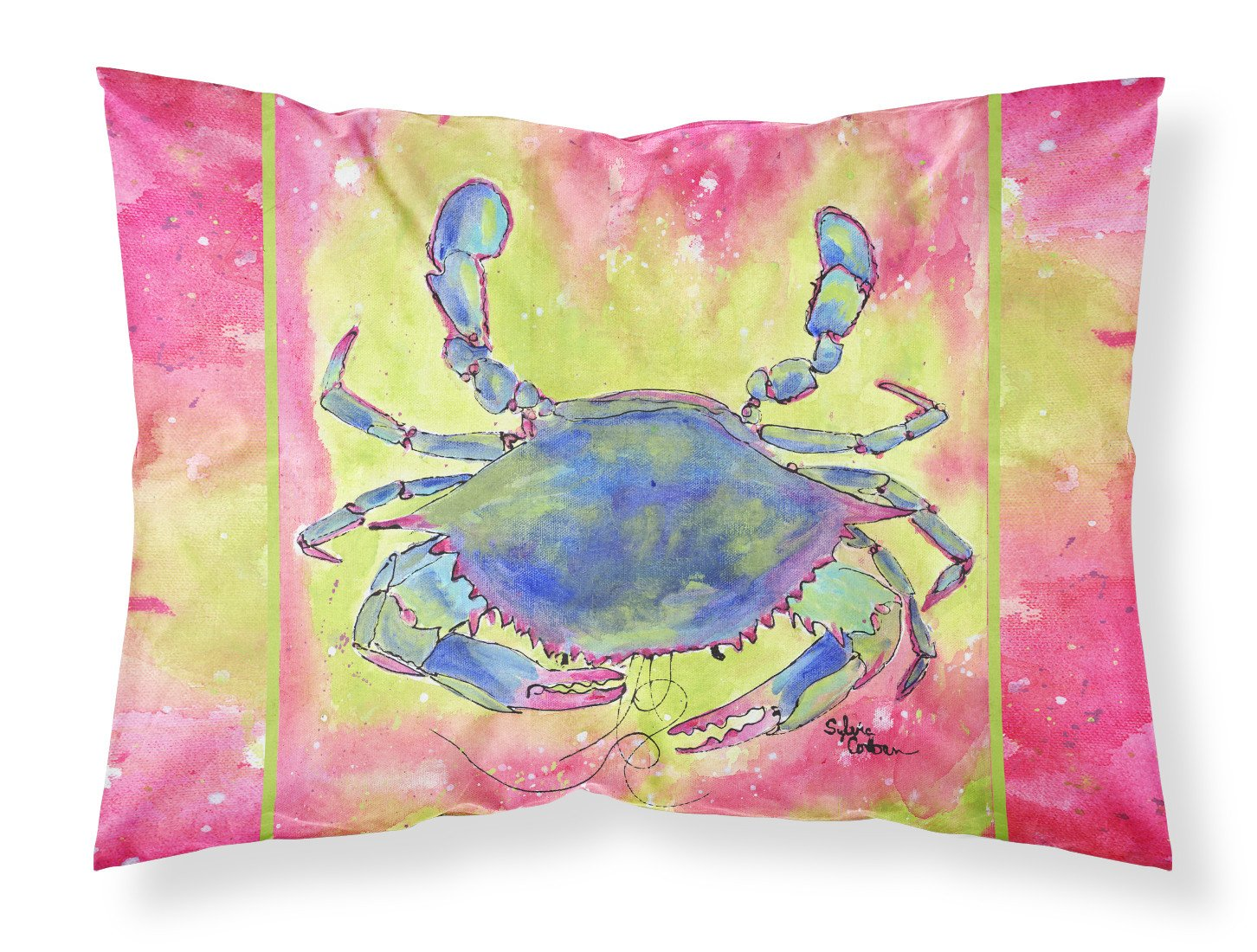Crab Moisture wicking Fabric standard pillowcase by Caroline's Treasures