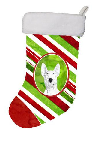Buy this Bull Terrier Candy Cane Christmas Christmas Stocking SC9618-CS