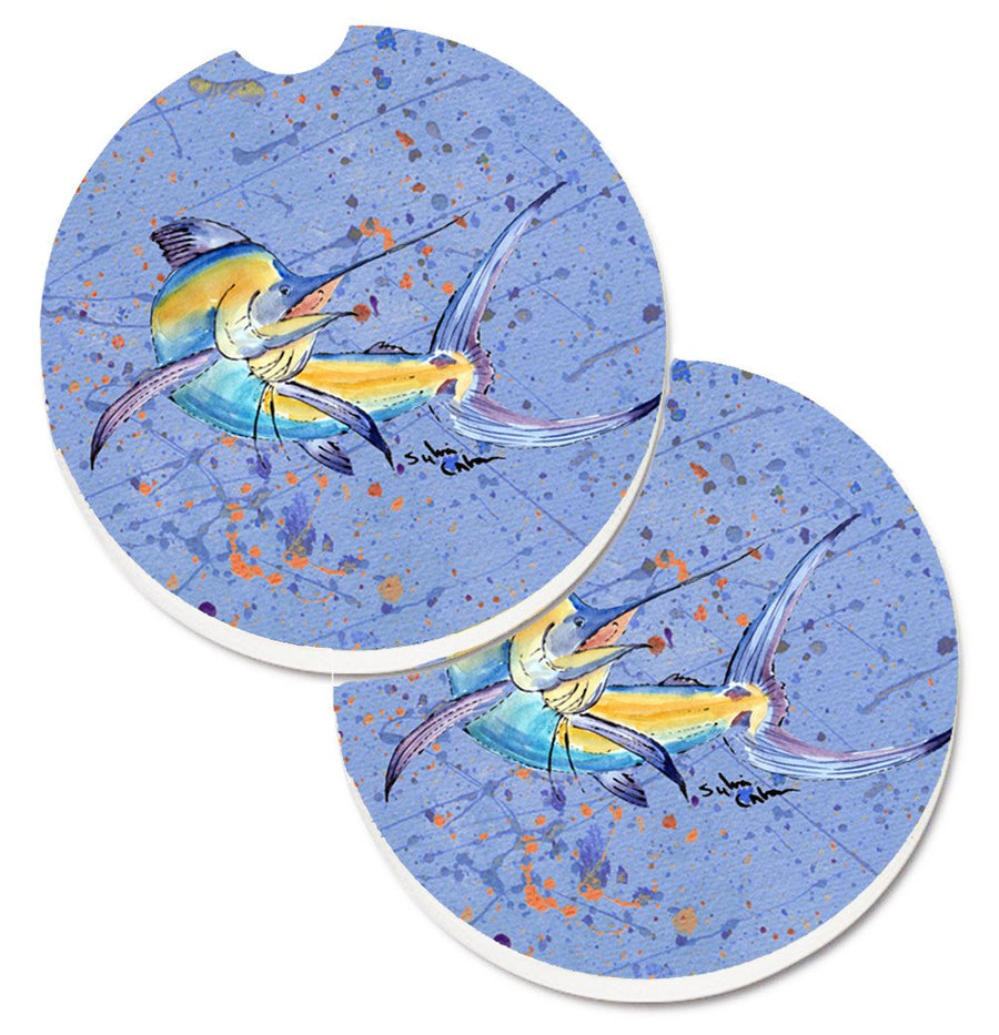 Buy this Blue Marlin Set of 2 Cup Holder Car Coasters 8350CARC