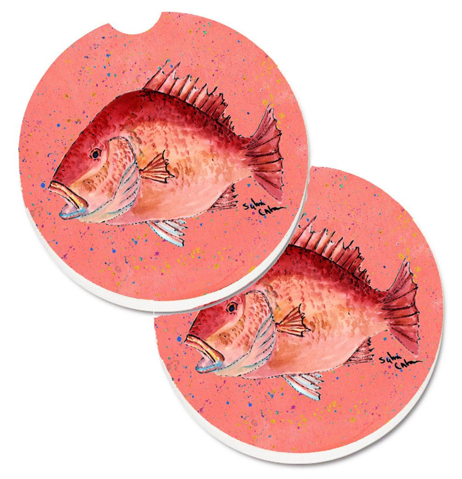 Buy this Strawberry Snapper Set of 2 Cup Holder Car Coasters 8351CARC
