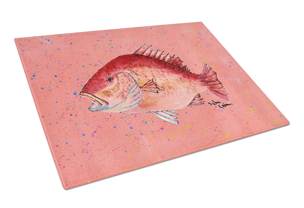 Buy this Strawberry Snapper Glass Cutting Board Large