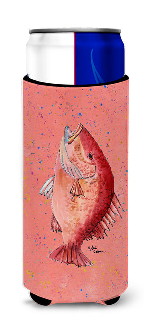Buy this Fish Strawberry Snapper Ultra Beverage Insulators for slim cans 8351MUK