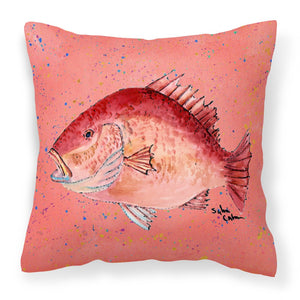 Buy this Strawberry Snapper Fabric Decorative Pillow 8351PW1414