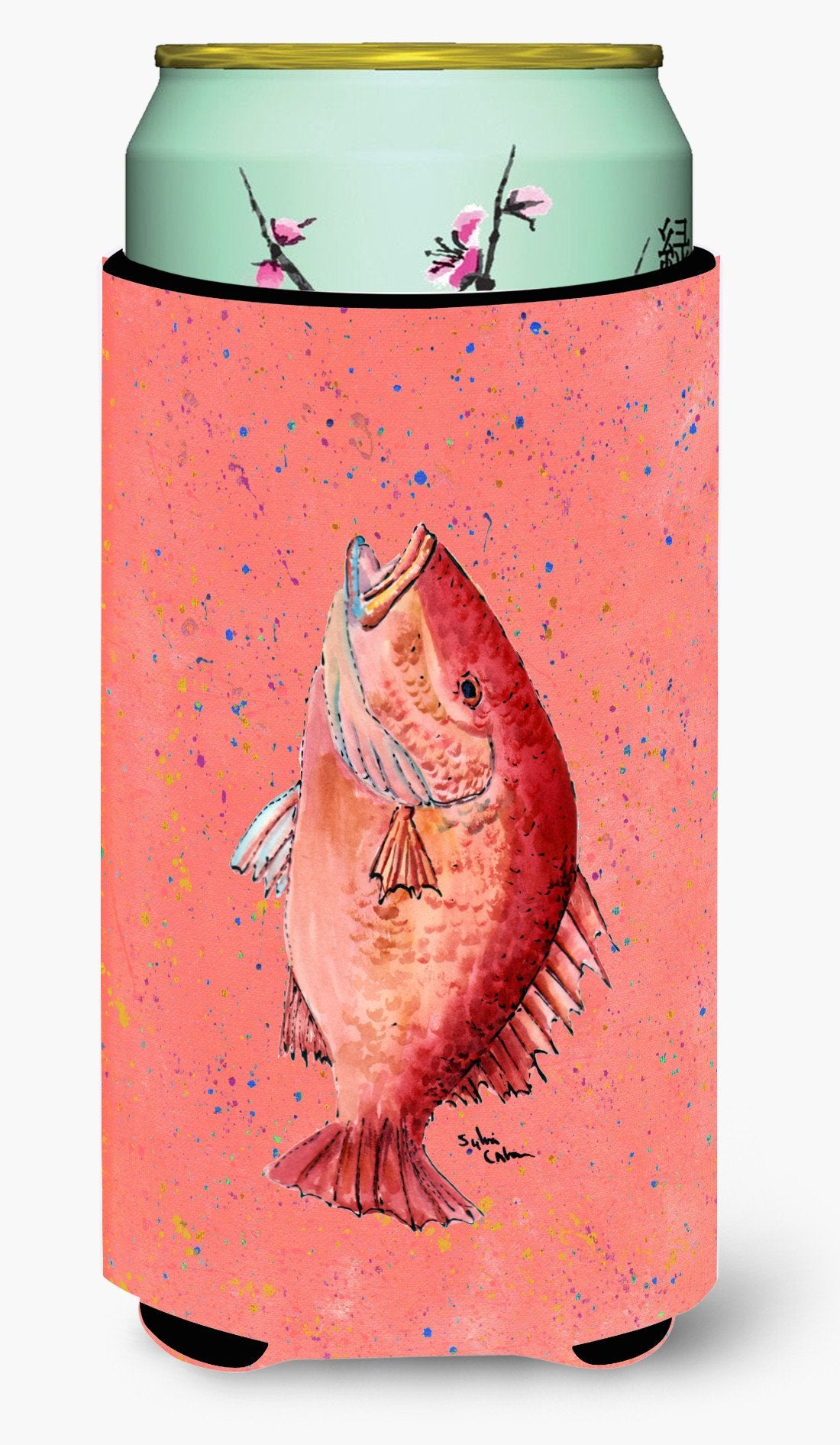 Buy this Fish Strawberry Snapper  Tall Boy Beverage Insulator Beverage Insulator Hugger